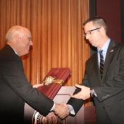 Dean Rogow Congratulates Scott Whittington