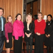 Seven of the 15 Fall 2011 MBA Graduates