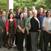 The spring 2012 Graduates and MBA faculty